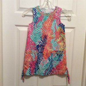 Lilly Pulitzer Girls' Dress 6 Blue Orange Pink